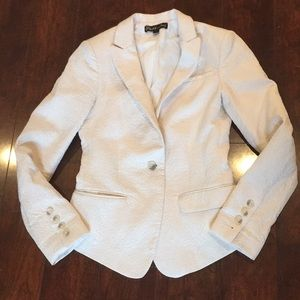 Elizabeth and James cream jacquard blazer size 0